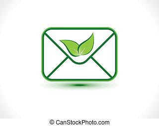 eco, ikona, abstrakcyjny, poczta