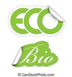eco, komplet, bio, etykiety