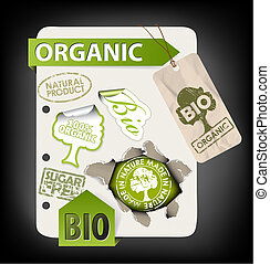 eco, komplet, elementy, organiczny, bio