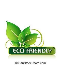 eco, przyjacielski, ikona