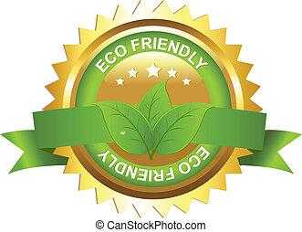 eco, przyjacielski, znak