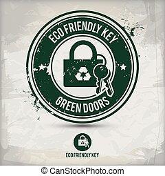 eco, tłoczyć, alternatywa, klucz
