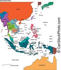 editable, kraje, nazwiska, azja, południowo-wschodni
