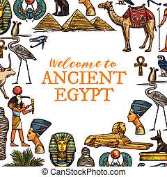 egipt, kraj, podróż, starożytny, symbolika