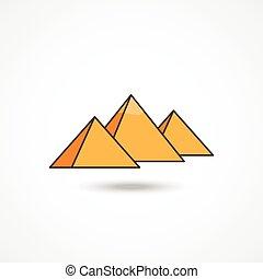 egipt, piramidy, ikona