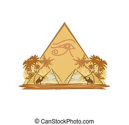 egipt, symbolika, piramidy