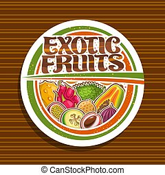egzotyczny, logo, wektor, owoce
