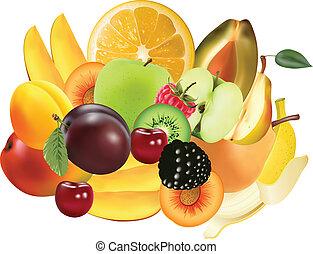 egzotyczny, rozmaitość, owoce