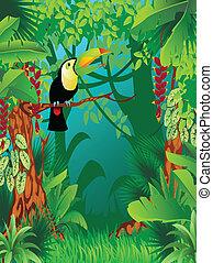 egzotyczny, tropikalny, dżungla