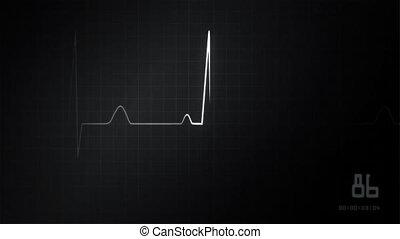 ekg, hydromonitor serca, szary