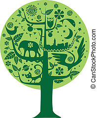 ekologia, drzewo, natura