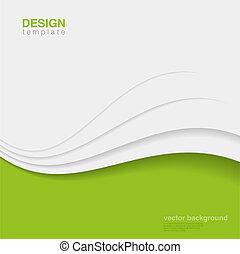 ekologia, vector., eco, abstrakcyjny, twórczy, projektować, tło
