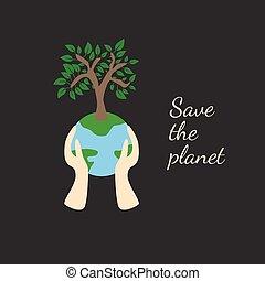 ekologia, ziemia, pojęcie, drzewo