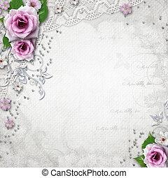elegancja, tło, ślub