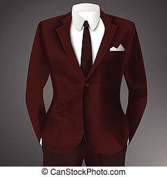 elegancki, człowiek, garnitur