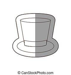 elegancki, ikona, kapelusz, garnitur