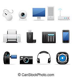 elektronika, komputery, ikony