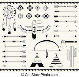 element., indyjska amerikanka, krajowiec, plemienny