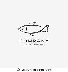 element.eps, kreska, logo, sztuka, fish
