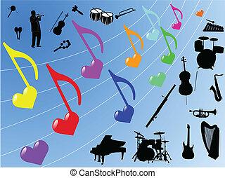 elementy, muzyka