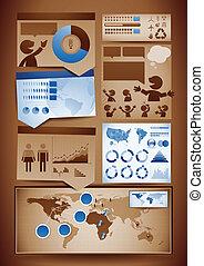 elementy, projektować, infographics