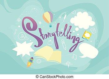 elementy, projektować, storytelling, ilustracja