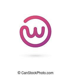 elementy, szablon, logo, ikona, litera, projektować, w