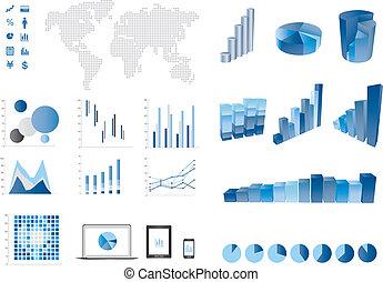 elemtns, wykres, bar, 3d, finanse