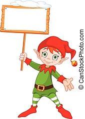 elf, boże narodzenie, znak