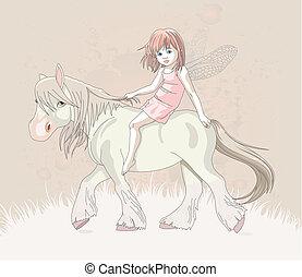 elf, koń