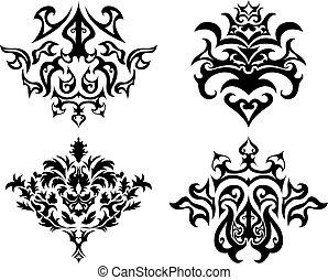 emblemat, gotyk, komplet