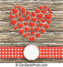 emblemat, heartsheart, drewno