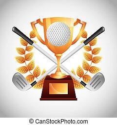 emblemat, klub, golf