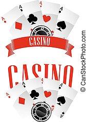 emblematy, kasyno, albo, znaki