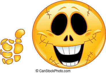 emoticon, czaszka