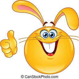 emoticon, królik