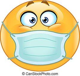 emoticon, medyczny, maska