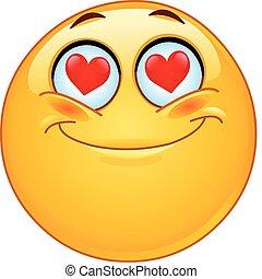 emoticon, miłość