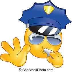 emoticon, policjant