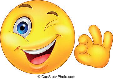 emoticon, smiley, ok znaczą