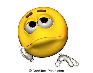 emoticon, smutny