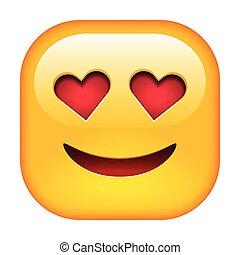 emoticon, uśmiech, miłość