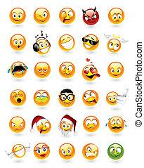 emoticons, komplet, 30