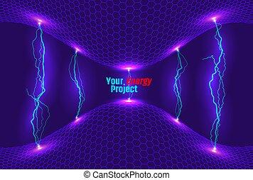 energia, abstrakcyjny, tło