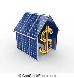 energia, concept., słoneczny