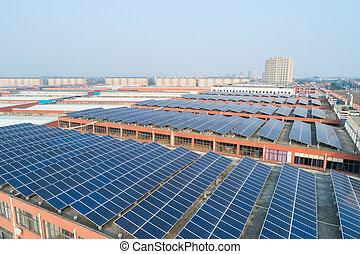 energia, dach, słoneczny