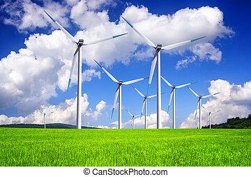 energia, globalny, wiatr