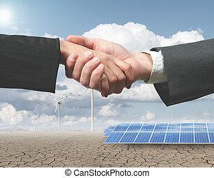 energia, handhsake, odnawialny
