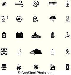 energia, komplet, ikona
