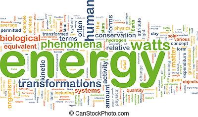 energia, pojęcie, fizyka, tło